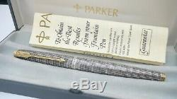 Perfect Parker 75, In Box, Sterling Silver Cisele, 14k M Nib, Made In USA