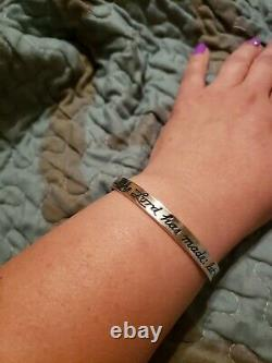 RARE, HTF James Avery Sterling Psalm 413 This is the day Lord has made Bangle