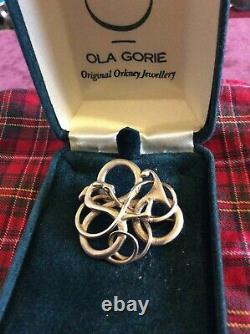 RARE OLA GORIE SJUSTA-ZOOMORPHIC BROOCH-DELICATELY MADE-STERLING SILVER c1988