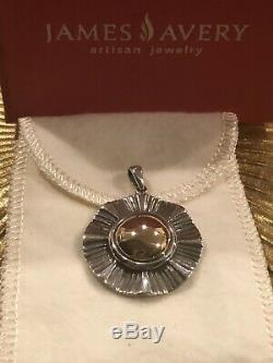 RARE Retired James Avery Sterling and 14K YELLOW GOLD Ruffle Custom Made PENDANT