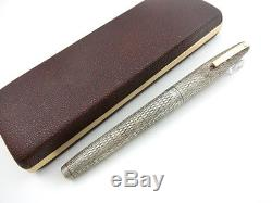 RARE SHEAFFER Sterling Silver 925 Body x 14K-585 & Box Made USA Beautiful FP