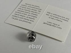RETIRED James Avery CUPCAKE Charm Sterling Silver New! . 925 Made USA Baking