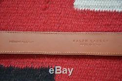 Ralph Lauren Purple Label Made in Italy Sterling Silver Tipped Alligator Belt