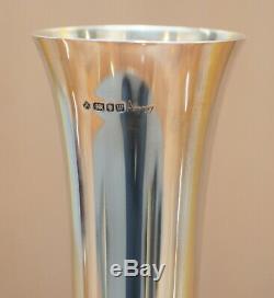 Rare Asprey London Fully Hallmarked Sterling Silver Made 1996 Poppy Flower Vase