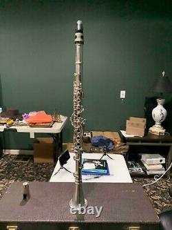 Rare Wm S. Haynes Sterling Silver Clarinet nice condition only 332 ever made WOW