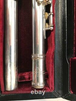 Reginald C. Aitkins ULTRA RARE Professional Silver Engraved Flute Made in Boston
