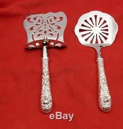 Repousse by Kirk & Son Sterling Asparagus Server & Tomato Server Custom Made