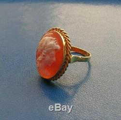 Ring Silver 925 Cameo Warrior jewelry sardonic CZ Made in Italy