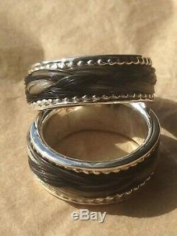 STERLING SILVER MADE TO YOU AND YOUR HORSE C@@LCustom made Horsehair Ring