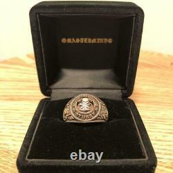 STUSSY mastermind Jam Home Made Circle Skull College Ring US10-10.5 size