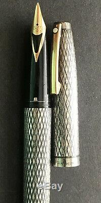 Sheaffer Imperial Sterling Silver 14k Gold Nib 585 Made In USA