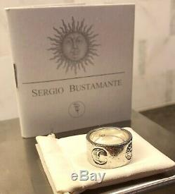 Signed Sergio Bustamante Astros 925 Sterling Silver Hand Made Band- Pre Owned