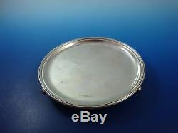 Small Footed Sterling Silver Tray or Bottle Coaster Made in England