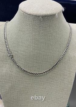 Solid 925 Sterling Silver Miami Cuban Curb Link Chain Necklace 5mm Made Italy