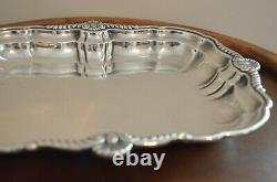 Solid Sterling Silver Tray 12 long Made by International Weighs Over 1 lb