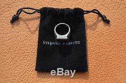 Stephen Webster England Made Me Pietersite Cigar Leaf Ring Rhodium Silver