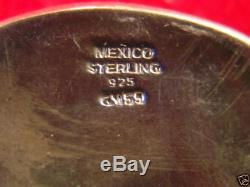 Sterling Silver (. 925) 4pc Fully Engraved Texas Ranger Buckle Set Made in Mexico