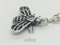 Sterling Silver Gucci Fly Necklace Made In Italy