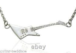 Sterling Silver Guitar Necklace Mens Guitar Gifts Guys UK Made Music Jewellery