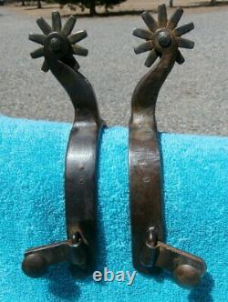 Sterling Silver Iron Custom Made Lonnie Davis Cowboy Horse Spurs