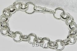 Sterling Silver Ladies Belcher Bracelet 8.5 Inch Uk Made Solid 925 Silver