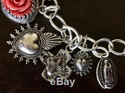 Sterling Silver Love & Faith Hand-Made OOAK Charm Bracelet by Gregory Segura