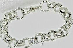Sterling Silver Men's Belcher Bracelet 8.75 Inch Uk Made Solid 925 Silver