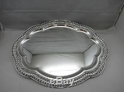 Sterling Silver Tray Oval Made in Italy scallop Shaped