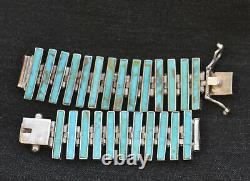 Stunning Turquoise and Sterling Silver Watch Band Made in Chile