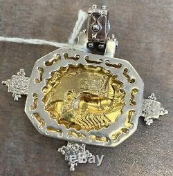 Tagliamonte Horse/ Spartan Pendant 14k in 925 Sterling Silver Italy Made 1385 VI