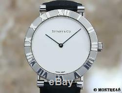 Tiffany & Co Atlas 925 Solid 925 Silver Swiss Made Quartz Men 31mm Watch J207