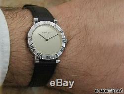 Tiffany & Co Atlas 925 Solid 925 Silver Swiss Made Quartz Men 31mm Watch MC286