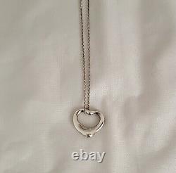 Tiffany & Co Elsa Peretti Sterling Open Heart Pendant Made in Spain