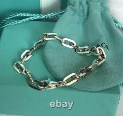 Tiffany & Co. Rectangular Oval Link Bracelet 7.25 made in Germany
