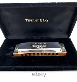 Tiffany & Co. Sterling Silver 925 Sides Harmonica Made By Hohner Germany