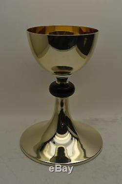 + Traditional All Sterling Silver Chalice + Made by Piana + Black Node (#AHB6)