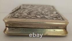 VINTAGE CIGARETTE CASE, STERLING SILVER, MADE IN ITALY, CIRCA 1940s. 3 x 2