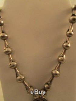 VTG SW HANDMDE NECKLACE MADE OF SQUASH BLOSSOMS With PENDANT SS-NEW PRICE
