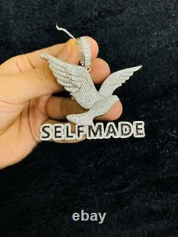 VVS1 Diamond 2 CT Self Made Hip Hop Pendant With Chain 14K White Gold Finish