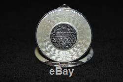 Vintage Antique Sterling Silver Gesch Enamel Made In Austria Compact