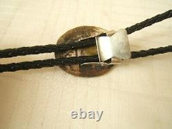 Vintage Bolo Tie Blue Green Turquoise Very Pretty Nicely Made