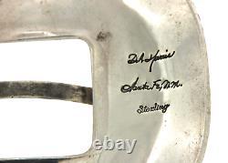 Vintage D. A. Harris Santa Fe N. M. Buckle 925 Silver Collectible Hand Made ArtB1