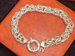 Vintage Estate Sterling Silver Byzantine Bracelet Made In Italy