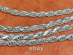 Vintage Estate Sterling Silver Chain Necklace Designer Signed Milor Made Italy