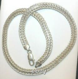 Vintage Estate Sterling Silver Necklace Made In Italy Designer Weave