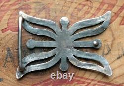 Vintage Hand Made Sterling Silver Cast Western Belt Buckle