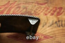 Vintage Hand Made Sterling Silver Turquoise Native American Horse Belt Buckle