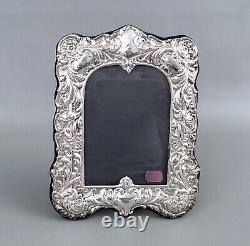 Vintage ORNATE Sterling Silver RBB Picture Frame Made in England-359g 9 x 6.5