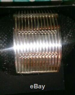 Vintage R Gucci Silver Cuff Bracelet made in italy
