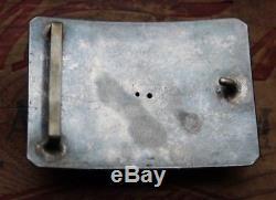 Vintage Rare Sterling Silver 10K Gold Hand Made Saddle Bronc Western Belt Buckle